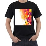 Autumn paint Men s T-Shirt (Black) (Two Sided) Front