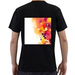 Autumn paint Men s T-Shirt (Black) (Two Sided) Back