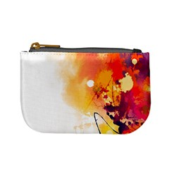 Autumn Paint Mini Coin Purse