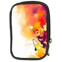Autumn Paint Compact Camera Leather Case
