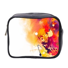 Autumn Paint Mini Toiletries Bag (two Sides)