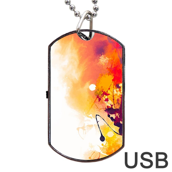 Autumn paint Dog Tag USB Flash (Two Sides)