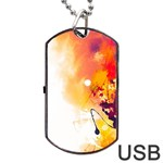 Autumn paint Dog Tag USB Flash (Two Sides) Back