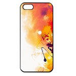 Autumn paint iPhone 5 Seamless Case (Black) Front