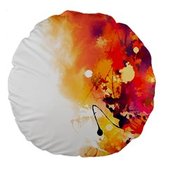 Autumn Paint Large 18  Premium Flano Round Cushions