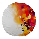 Autumn paint Large 18  Premium Flano Round Cushions Back