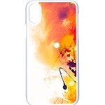 Autumn paint iPhone XS Seamless Case (White) Front