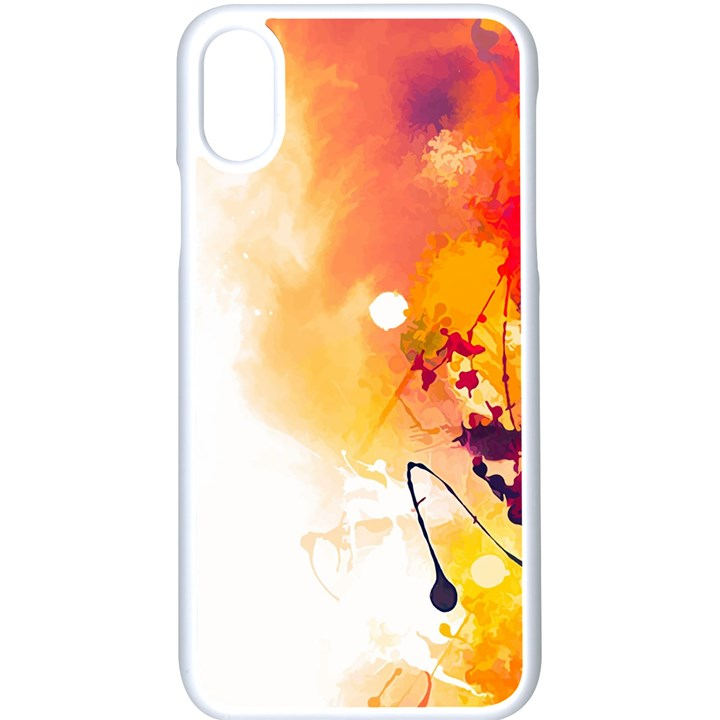 Autumn paint iPhone XS Seamless Case (White)