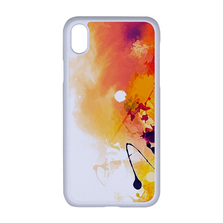 Autumn paint iPhone XR Seamless Case (White)