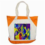 Yellow triangles abstract Accent Tote Bag Front