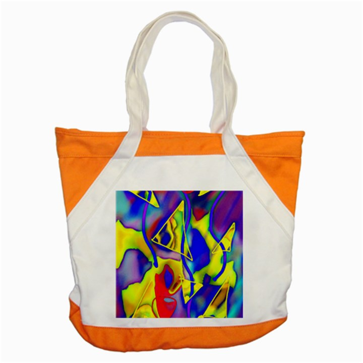 Yellow triangles abstract Accent Tote Bag