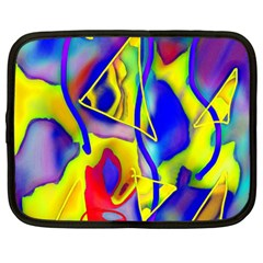Yellow Triangles Abstract Netbook Case (large)