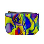 Yellow triangles abstract Mini Coin Purse Front