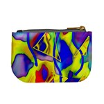 Yellow triangles abstract Mini Coin Purse Back