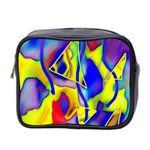 Yellow triangles abstract Mini Toiletries Bag (Two Sides) Front