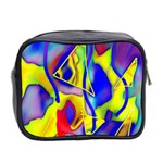 Yellow triangles abstract Mini Toiletries Bag (Two Sides) Back