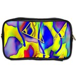 Yellow triangles abstract Toiletries Bag (One Side) Front