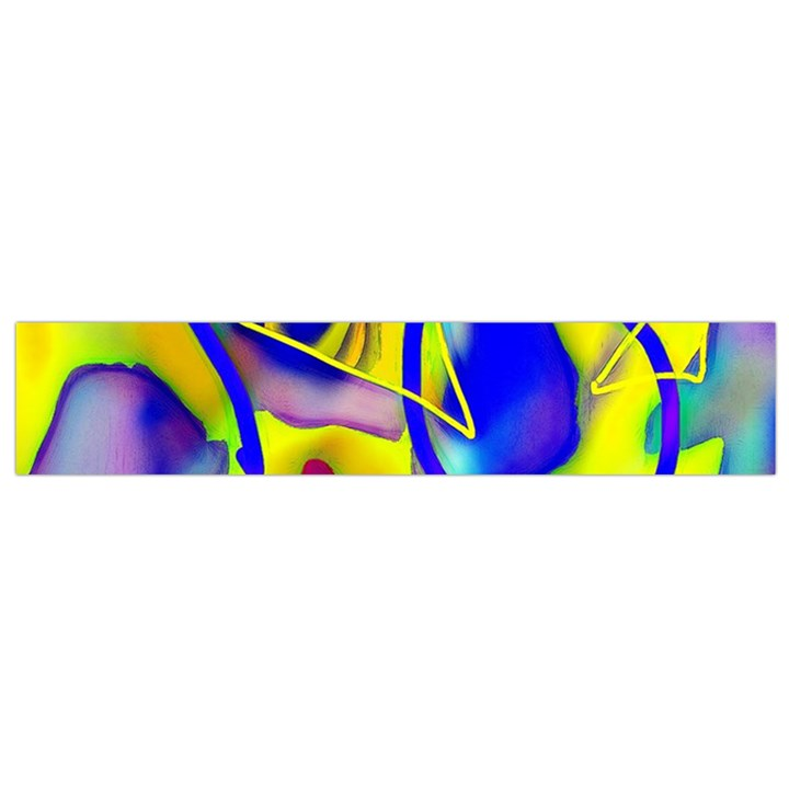 Yellow triangles abstract Small Flano Scarf