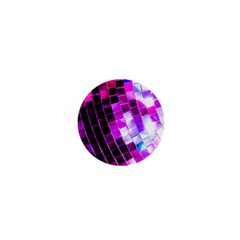 Purple Disco Ball 1  Mini Magnets by essentialimage