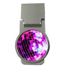 Purple Disco Ball Money Clips (round)  by essentialimage