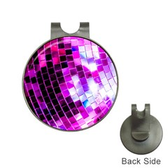 Purple Disco Ball Hat Clips With Golf Markers by essentialimage