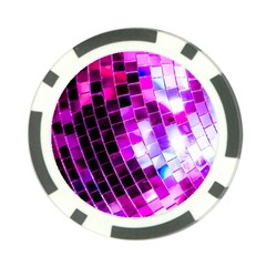 Purple Disco Ball Poker Chip Card Guard (10 Pack) by essentialimage