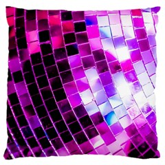 Purple Disco Ball Large Cushion Case (one Side) by essentialimage
