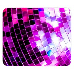 Purple Disco Ball Double Sided Flano Blanket (small)  by essentialimage