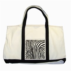 Vector Zebra Stripes Seamless Pattern Two Tone Tote Bag by Vaneshart