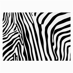 Vector Zebra Stripes Seamless Pattern Large Glasses Cloth (2 Sides)