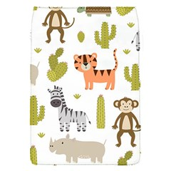 Cute Safari Animals Seamless Pattern Removable Flap Cover (s)