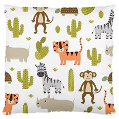 Cute Safari Animals Seamless Pattern Standard Flano Cushion Case (one Side) by Vaneshart