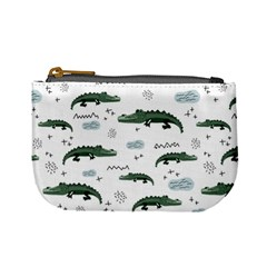 Vector Seamless Pattern With Cute Crocodiles Mini Coin Purse