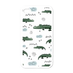 Vector Seamless Pattern With Cute Crocodiles Iphone 4 Case (white) by Vaneshart