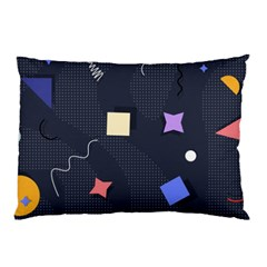 Memphis Pattern With Geometric Shapes Pillow Case (two Sides) by Vaneshart