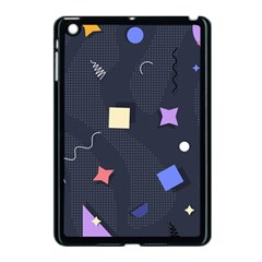 Memphis Pattern With Geometric Shapes Apple Ipad Mini Case (black) by Vaneshart