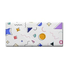Memphis Pattern With Geometric Shapes Hand Towel