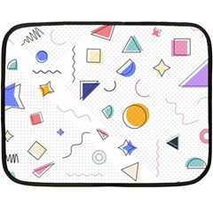 Memphis Pattern With Geometric Shapes Double Sided Fleece Blanket (mini)