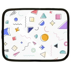 Memphis Pattern With Geometric Shapes Netbook Case (xl) by Vaneshart