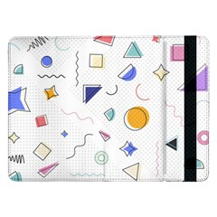 Memphis Pattern With Geometric Shapes Samsung Galaxy Tab Pro 12 2  Flip Case