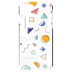 Memphis Pattern With Geometric Shapes Iphone 7/8 Black Uv Print Case