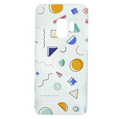 Memphis Pattern With Geometric Shapes Samsung Galaxy S9 Tpu Uv Case