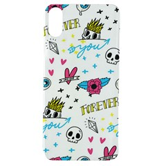 Emo Teens Doodle Seamless Apple Iphone Xs Tpu Uv Case