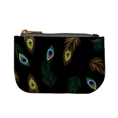 Seamless Pattern With Peacock Feather Mini Coin Purse