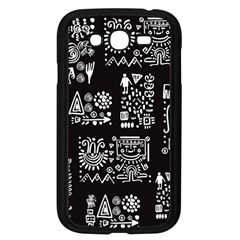 Vector Pattern Design With Tribal Elements Samsung Galaxy Grand Duos I9082 Case (black)