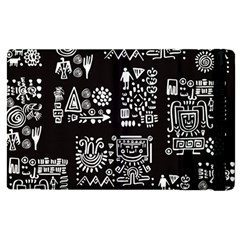 Vector Pattern Design With Tribal Elements Apple Ipad Mini 4 Flip Case