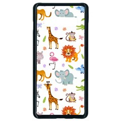 Children Seamless Wallpaper With Cute Funny Baby Savanna Animals Samsung Galaxy S10 Plus Seamless Case (black) by Vaneshart