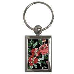 Beautiful Floral Vector Seamless Pattern Key Chain (rectangle)