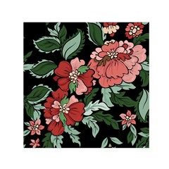 Beautiful Floral Vector Seamless Pattern Small Satin Scarf (square)