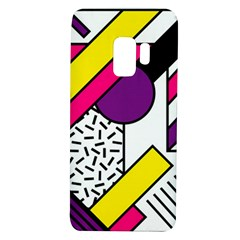 Memphis Colorful Background With Stroke Samsung Galaxy S9 Tpu Uv Case